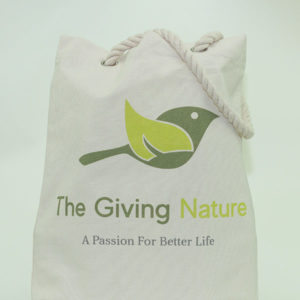 Cotton Canvas Shopping Bag - The Giving Nature