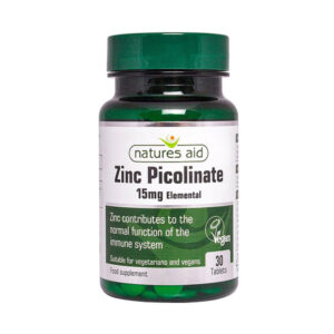 Zinc Picolinate 30 Tablets - Natures Aid