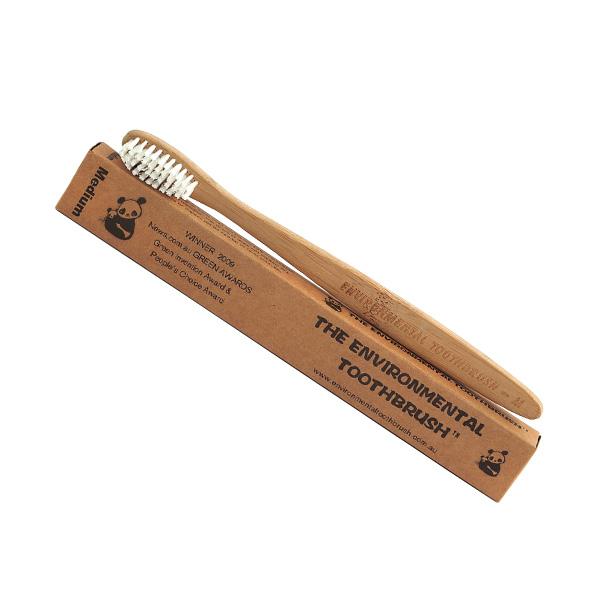 Bamboo Toothbrush - Medium - The Giving Nature