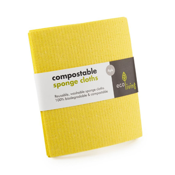 Compostable Sponge Cleaning Cloths - Ecoliving