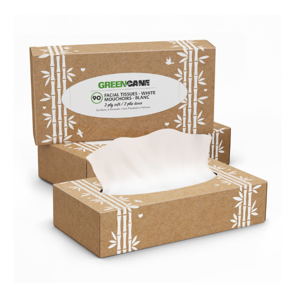 Sugarcane & Bamboo Facial Tissues - GreenCane