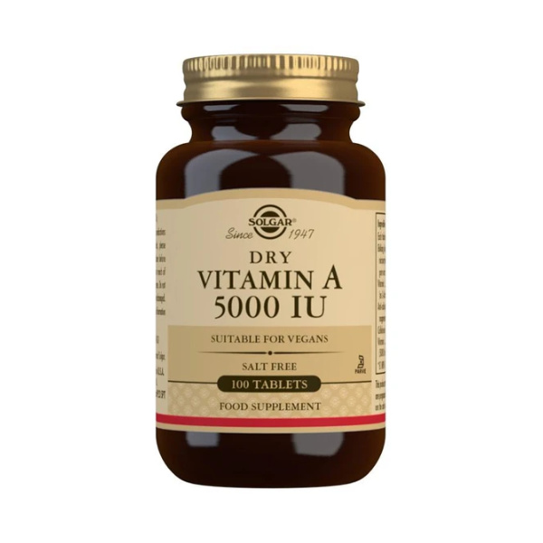 Solgar Dry Vitamin A 5000 IU Tablets