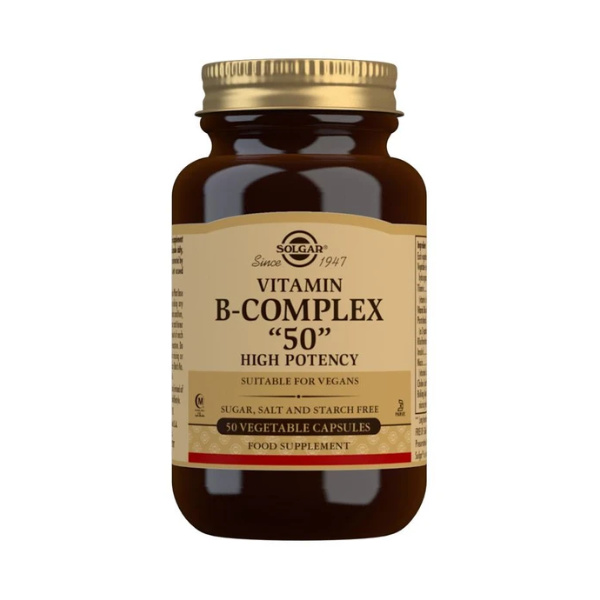 Solgar Vitamin B-Complex ''50'' High Potency Vegetable Capsules