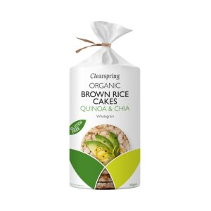 Organic Brown Rice Cakes - Quinoa and Chia - Clearspring