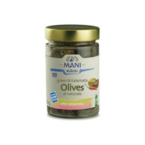 Organic Green & Kalamata Olives with Chilli & Herbs