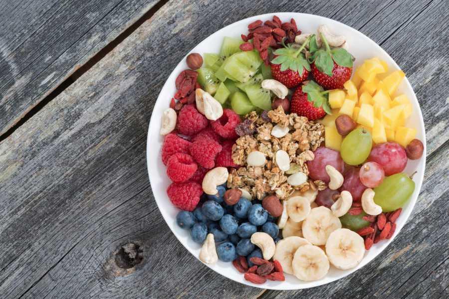 Raspberries, Grapes and Watermelon snacks