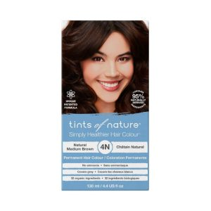 4N Natural Medium Brown Permanent Hair Dye - 130ml