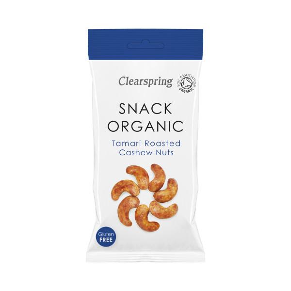 Organic Tamari Roasted Cashew Nuts - 30g