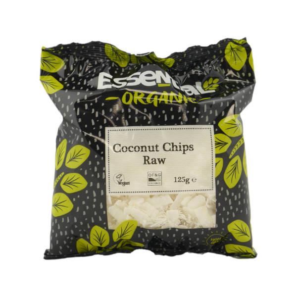 Organic Raw Coconut Chips - 125g